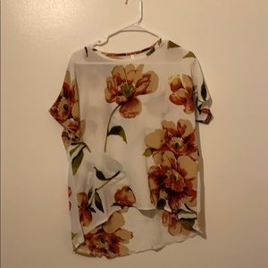 Brand new white floral blouse